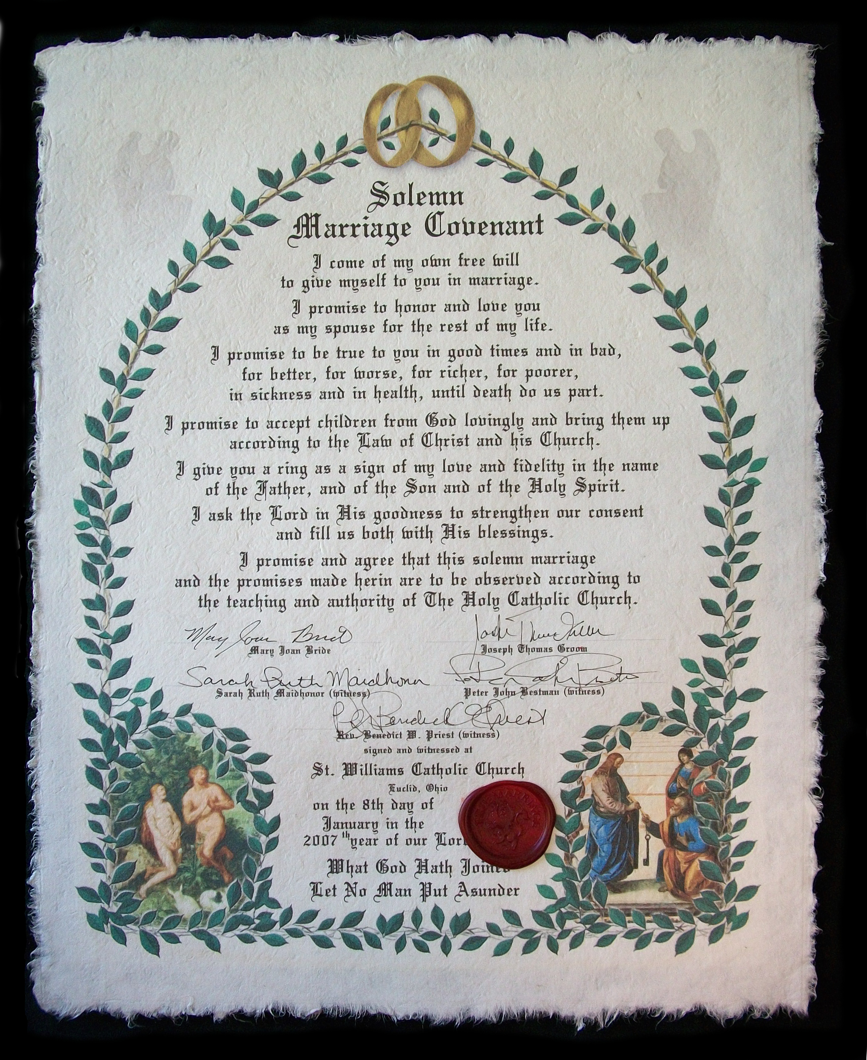True marriage proclamation marys advocates click to enlarge platinumwayz