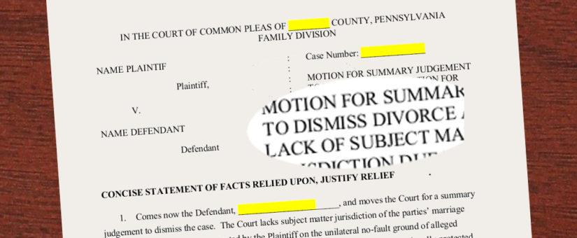 Divorce Judge – Rule that No-Fault is Unconstitutional