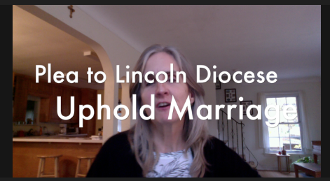 Plea to Lincoln Diocese to Uphold Marriage