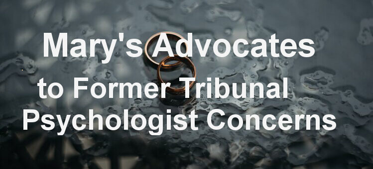 Former Tribunal Psychologist's Concerns