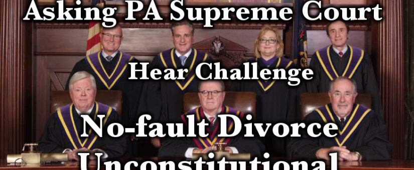 Asking PA Supreme Court – accept challenge to No-fault