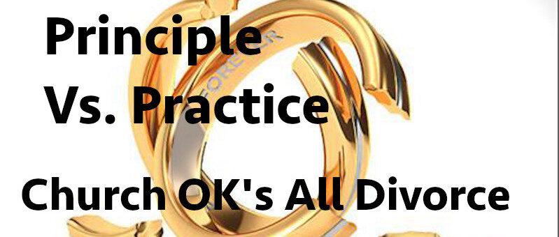 Principle vs. Practice. Divorce OK per Catholic Diocese