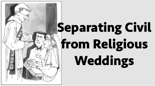 Separating Civil from Religious Weddings
